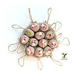 Dekorácie - NOVINKA: Obrovské orechy s drevenými vianočnými obrázkami - 11165390_