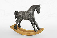Socha - Hojdací koník - originálna cínová socha - 11166451_