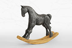 Socha - Hojdací koník - originálna cínová socha - 11166452_