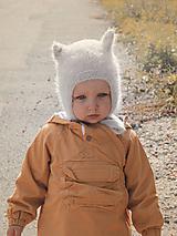 Čiapky - MIJANI Detská čiapka mačička - béžová - 11165260_
