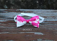 Doplnky - Pánsky motýlik (Ružová) - 11167663_