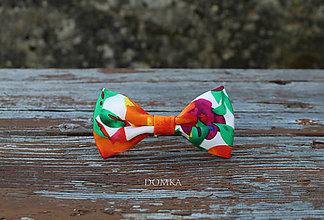 Doplnky - Pánsky motýlik (Oranžová) - 11167646_