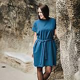 Šaty - Šaty Blue-gray Oversize - 11165530_