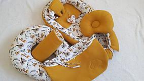 Hniezdo pre bábätko : horčicová vafle/ 100% bavlna