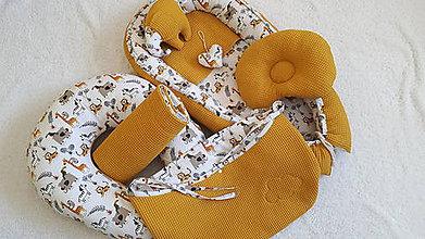 Textil - Hniezdo pre bábätko : horčicová vafle/ 100% bavlna - 11165679_