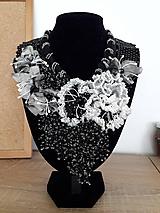 Náhrdelníky - bielo-čierna - 11167189_