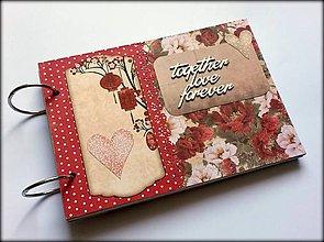 Papiernictvo - Fotoalbum svadobný  * kniha hostí A5 - 11167796_