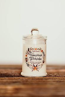 Svietidlá a sviečky - Sviečka zo sójového vosku v skle - Vianočná Pohoda 125g/30hod - 11167212_