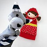 Hračky - Sada maňušiek na ruku (Červená Čiapočka a vlk) - 11167517_