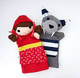 Hračky - Sada maňušiek na ruku (Červená Čiapočka a vlk) - 11167519_