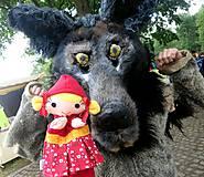 Hračky - Sada maňušiek na ruku (Červená Čiapočka a vlk) - 11167546_