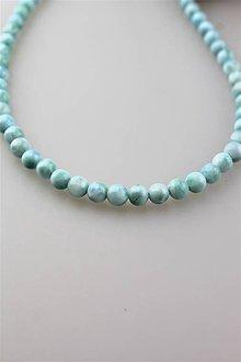 Náhrdelníky - larimar náhrdelník - korálky larimaru AA kvalita! - 11166196_