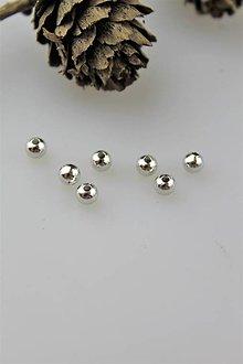 Korálky - korálka strieborná ródiovaná (vzhľad biele zlato) - 11167425_