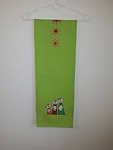 Úžitkový textil - Maľovaný obrus stredový,hráškový, 25 x 140 cm - 11165496_