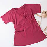 Tričká - Merino (nielen kojo) tričko (M - Fialová) - 11167704_