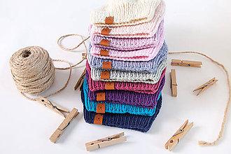 Detské čiapky - Pletená uzlíková merino čiapka - 11167603_