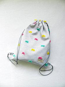 Detské tašky - Batoh pom-poms  3-6r. - 11166114_