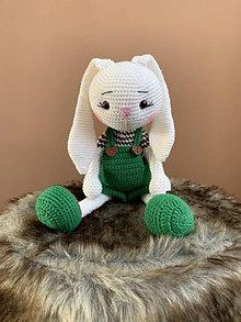 Hračky - zajačik FUFU - v zeleno/hnedom - 11165943_