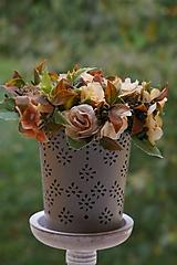 Dekorácie - Aranžmán - Čajové ruže - 11167096_
