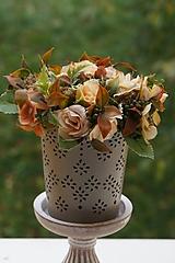 Dekorácie - Aranžmán - Čajové ruže - 11167105_