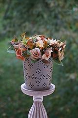 Dekorácie - Aranžmán - Čajové ruže - 11167108_