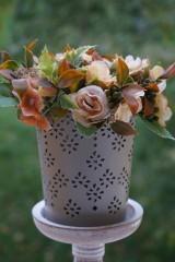 Dekorácie - Aranžmán - Čajové ruže - 11167109_