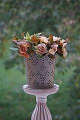 Dekorácie - Aranžmán - Čajové ruže - 11167110_