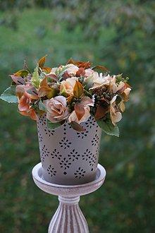 Dekorácie - Aranžmán - Čajové ruže - 11167106_