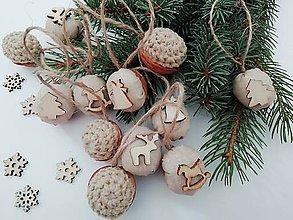 """Dekorácie - Vianočné oriešky - """"prírodné"""" - 11166577_"""