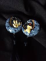 Náušnice - Čarodejnícke náušnice - žlté - 11165285_