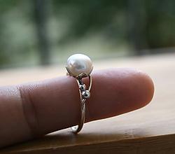Prstene - Perlový prsteň - 11166691_