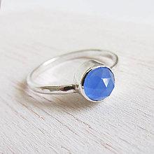 Prstene - September: VelvetBlue / BlueChalc 6mm (hladký) - 11166951_
