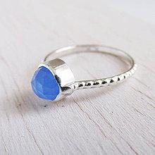 Prstene - September: VelvetBlue / BlueChalc 6mm (perličkový) - 11166955_