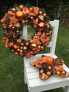 Dekorácie - Vianočný veniec a svietnik - 11165451_
