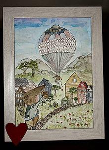 Obrazy - Myšiak a balón - 11165699_