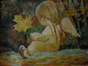 Kresby - Jesenný anjelik - 11165974_