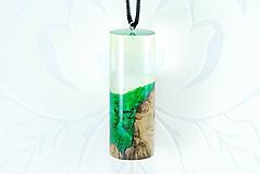 Náhrdelníky - Kapsula lesa 2- Drevený náhrdelník - 11165619_
