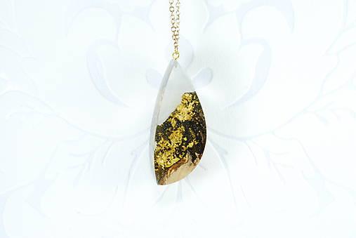 Drevený zlatý 24K náhrdelník - Zlatá baňa