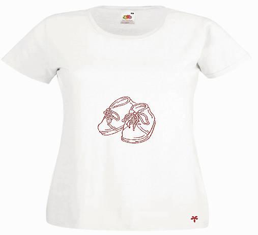 Dámske vyšívané tričko  : tehulka Botičky
