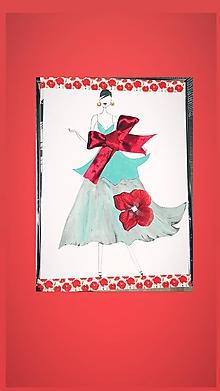 Obrazy - Poppy woman - 11165392_
