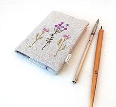Papiernictvo - Zápisník Bobuľky a lúčne kvietky fialové - A6 - 11165444_