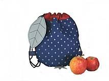 - batoh Jabĺčko červené + modrotlač 1 - 11166260_