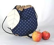 - batoh Jabĺčko hnedé + modrotlač 1 - 11166268_