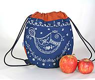 - batoh Benjamím oranžový + modrotlač AM1 - 11166486_