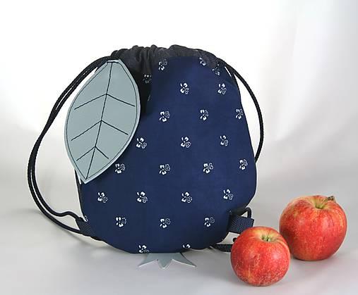 batoh Jabĺčko riflové + modrotlač 1