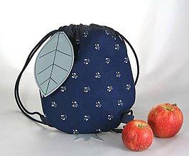 Detské tašky - batoh Jabĺčko riflové + modrotlač 1 - 11166273_