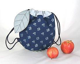 Detské tašky - batoh Jabĺčko bledomodré + modrotlač 1 - 11166278_