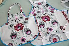 Iné oblečenie - set zásterok - mama a dcéra - 11165173_