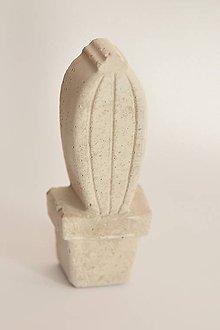 Dekorácie - betónová dekorácia - kaktus - 11165299_