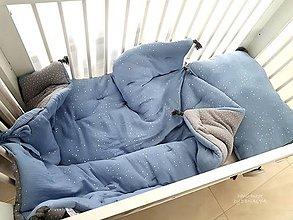 Textil - Luxusná mušelínová sada paplón a vankúš do postielky 130x95cm a 40x60cm - 11169952_